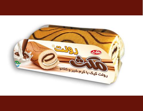 کیک رولتی با کرم کاکائو