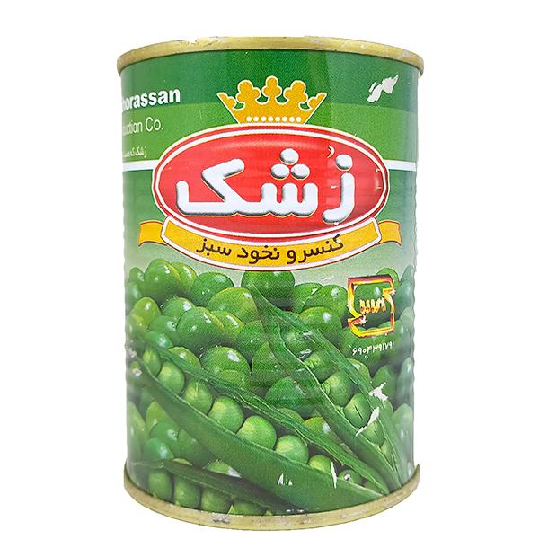 کنسرو نخود سبز ۳۸۰ گرمی زشک