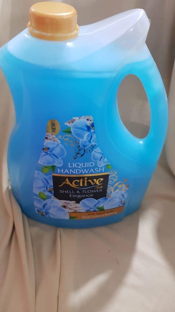 مایع دستشویی آبی ۴ لیتری اکتیو