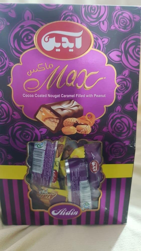 شکلات کاراملی روکش دار با طعم بادام زمینی ماکس
