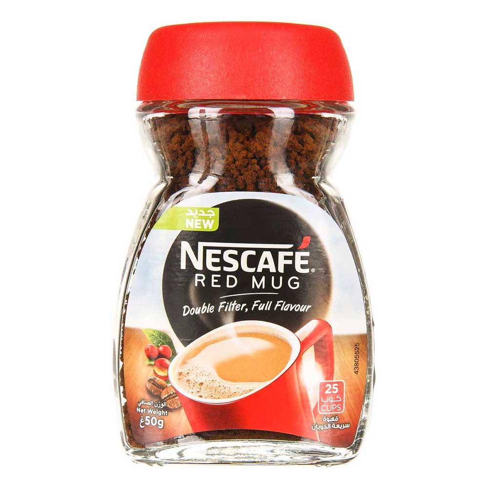 قهوه فوری ۵۰ گرمی نسکافه مدل RED MUG
