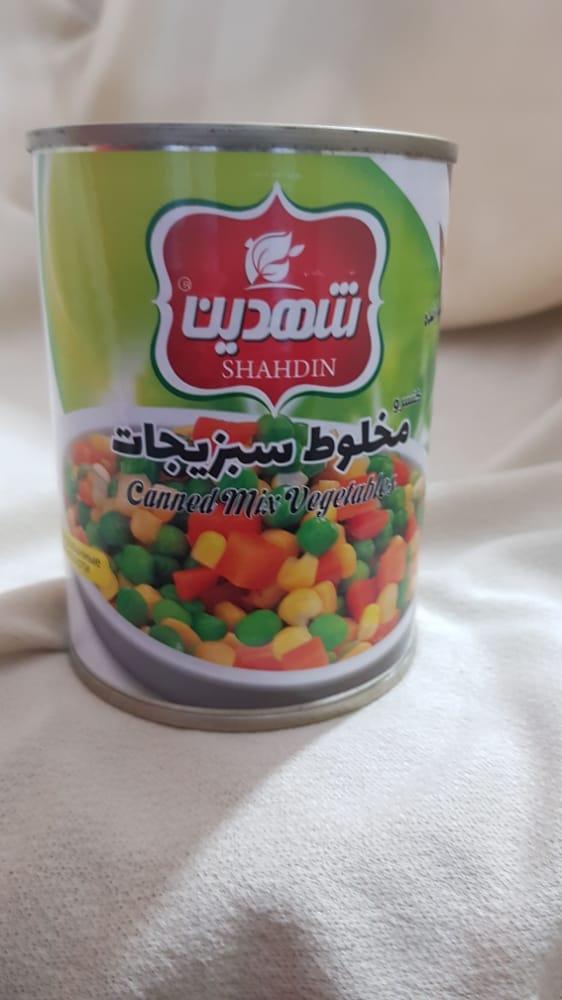 کنسرو مخلوط سبزیجات ۳۷۰ گرمی شهدین