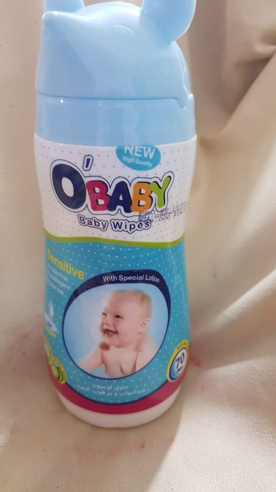 دستمال مرطوب بچه آبی اُبیبی
