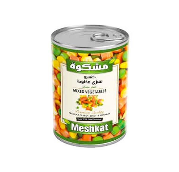 کنسرو سبزی مخلوط ۲۸۰ گرمی مشکوه