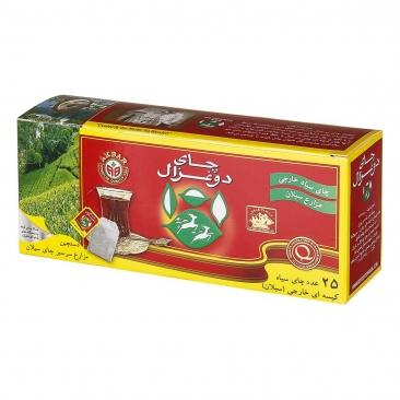 چای سیاه کیسه ای ۲۵ عددی دوغزال