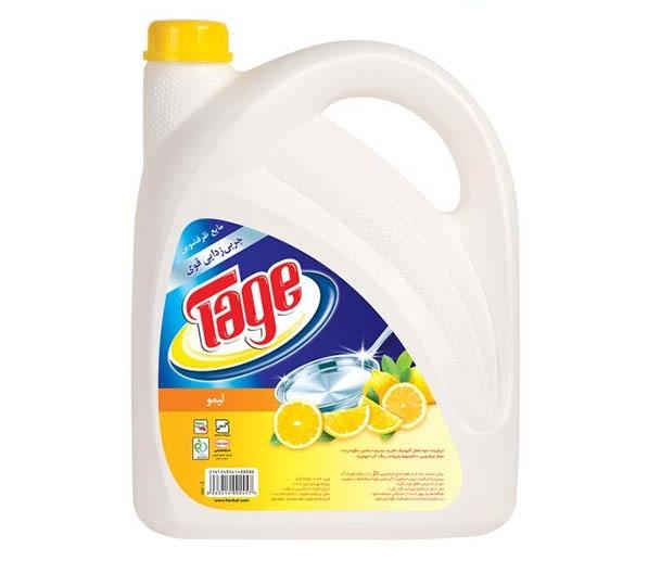 مایع ظرفشویی لیمویی ۴ لیتری تاژ