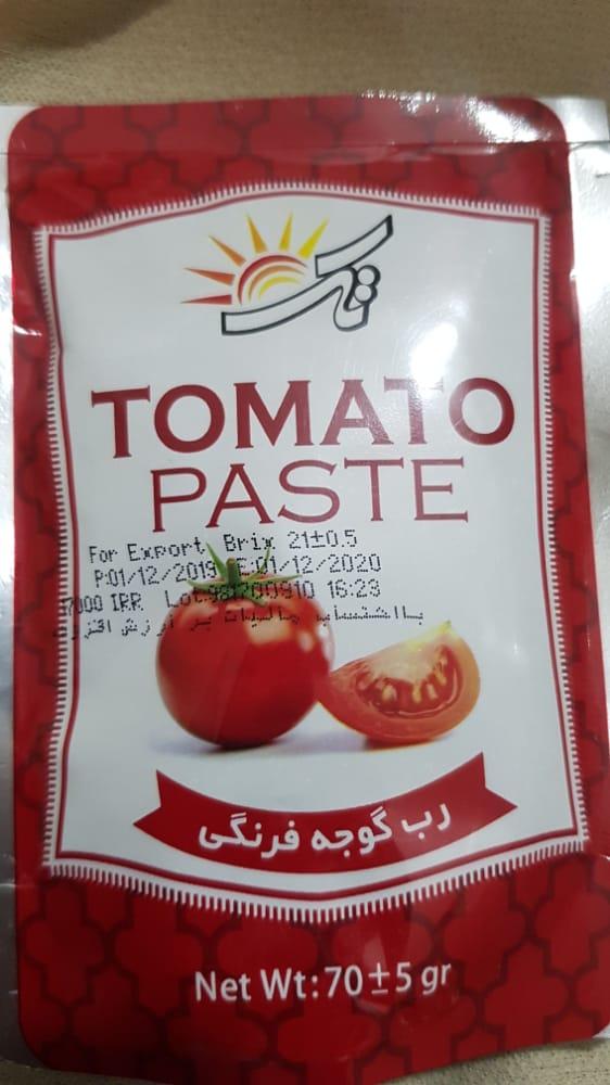 رب گوجه فرنگی ۷۰ گرمی تک