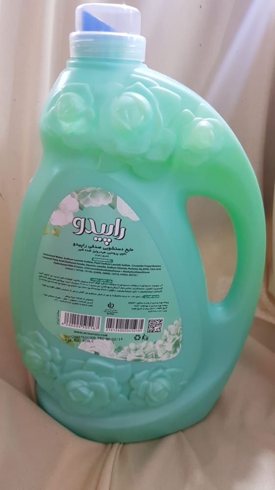 مایع دستشویی صدفی سبز ۳ لیتری راپیدو